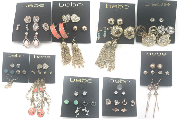 50 PAIR Bebe Earrings -Pre priced $24.99- $28.99 PAIR Only 4 lots Available
