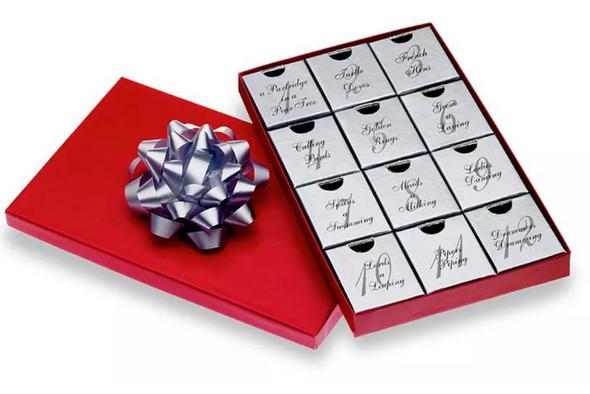 12 Days of Christmas Swarovski Elements Jewelry Boxed- 12 PIECES