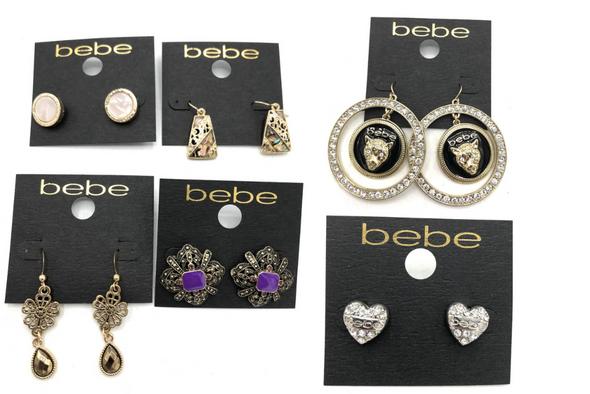 50 PAIR Bebe Earrings -Pre priced $42.99 PAIR -VERY LIMITED SUPPLY!!