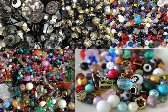 10 LBS Incredible Bead Assortment! Tons different Styles+ Colors