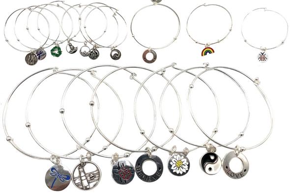 100 Pcs CHARM BRACELETS - lots assorted styles