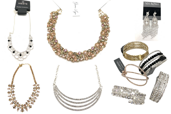 100 pieces All Fancy Austrian Crystal Necklaces, Bracelets Earrings
