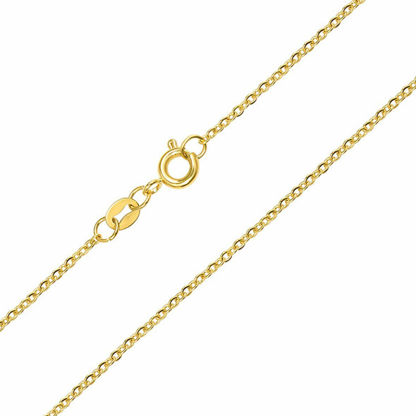 144 Pcs Fine Cable Chains 14 KT Gold Plated in USA 18 inches (1.5MM) Will not Fade or Tarnish easily
