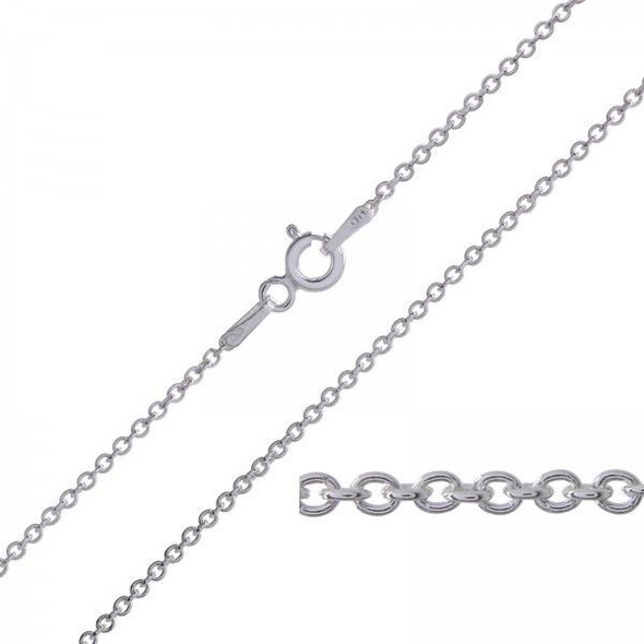 144 pcs Cable Chains Your choice of Sterling silver or Rhodium plate + Made in USA 18 inches (1.5MM) Will not Fade or Tarnish