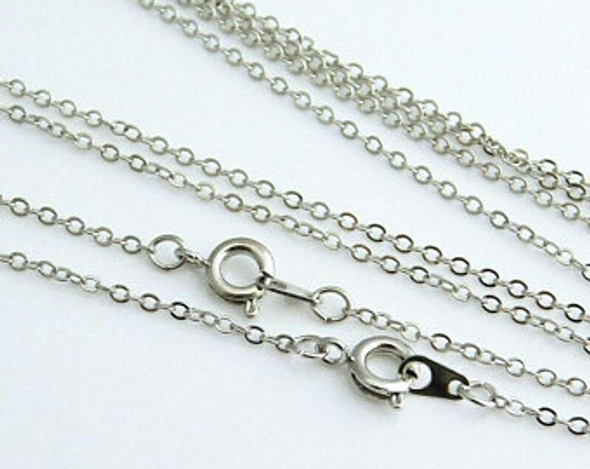 144 pcs Cable Chains Your choice of Sterling silver or Rhodium plate + Made in USA 16 inches (1.5MM) Will not Fade or Tarnish