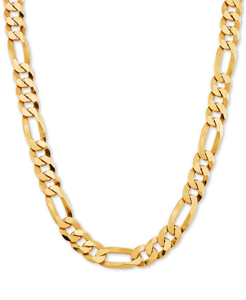 14KT GOLD PLATED CUBAN LINK CHAIN - 24 INCHES LONG- 8 mm wide - Made in USA