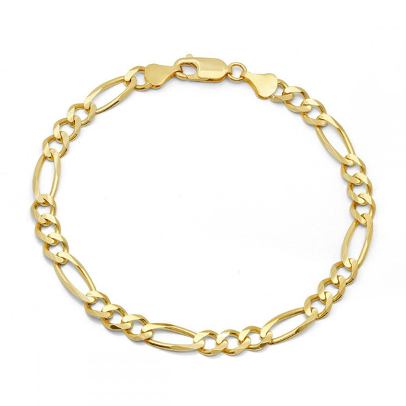 14 KT  GOLD PLATE CUBAN LINK BRACELET- 8 Inches Long- 8 mm wide - MADE IN USA