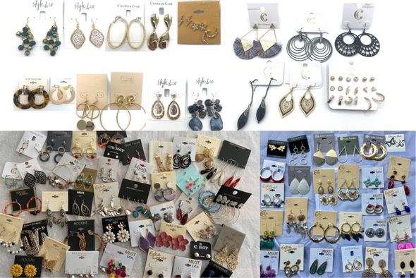 50 Pair All Designer Name Brand Earrings- Amazing lot !!-quality