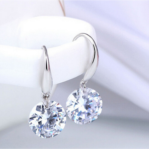 Naked Drill Crystal Drop Earrings made with Swarovski elements