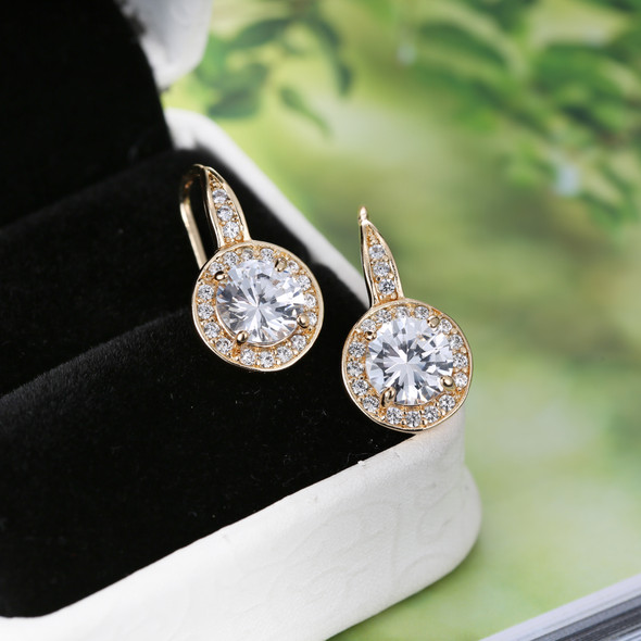 Crystal Halo Earrings made with Swarovski elements
