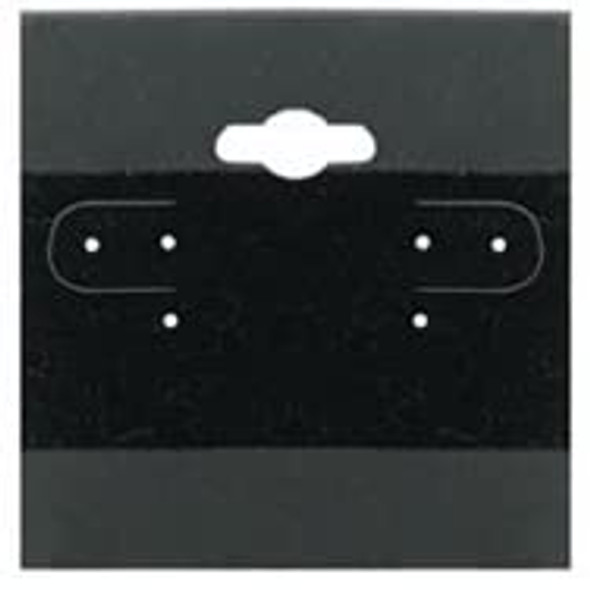Hanging Earring Card - Black Velour-Flocked  2x2 (100-Pcs)