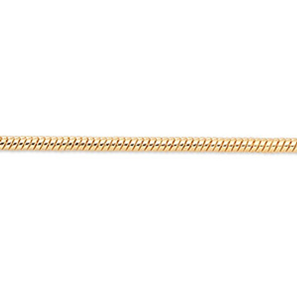 Snake Chain Gold Plated 18 inch w/ 2 inch extender  -1.2 mm Bulk Wholesale Necklace  MADE IN USA