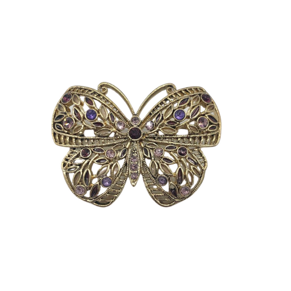Butterfly  Brooch w/  Swarovski Crystals Absolutely Gorgeous