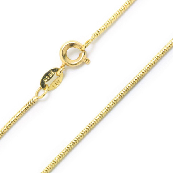 Snake Chains 14 kt Gold Plated Made in the USA- 30 inch
