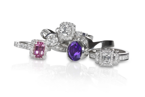 36 pieces Womens Extra Fancy CZ Cocktail Rings 4 carat  to 10 carat t.w