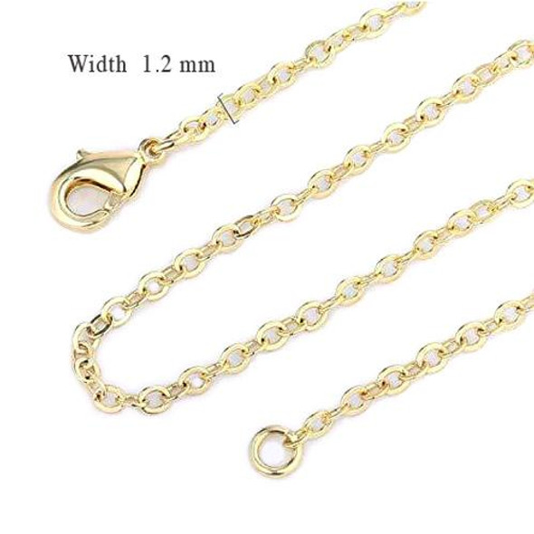 144 Pcs Fine Cable Chains 14 kt Gold Plated in USA -18 INCH