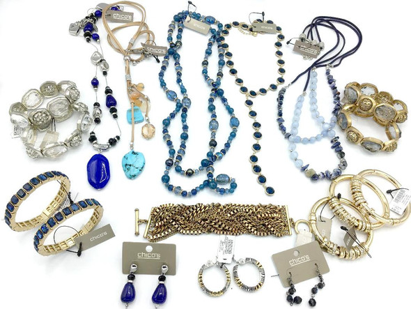 50 Pieces  of 23 Name Brands + Designers Jewelry Lot -Each Piece Different
