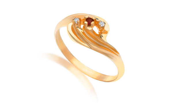 Genuine Diamond & Ruby Rings Sizes 6 thru 10