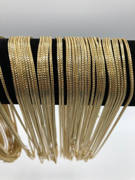 Foxtail Chains  18 inch- Made in USA - Your Choice 14KT Gold or Sterling Silver Overlay