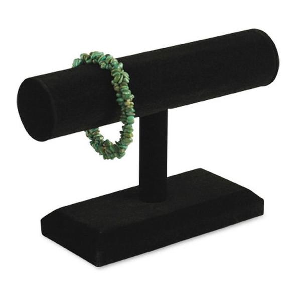 """Black Velvet 5""""H Single T-Bar Bracelet Display Stand"""