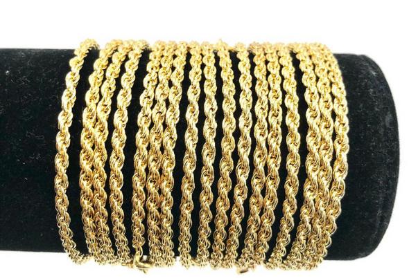 Rope Bracelets 14 kt Gold Plated - 7 1/2 inch