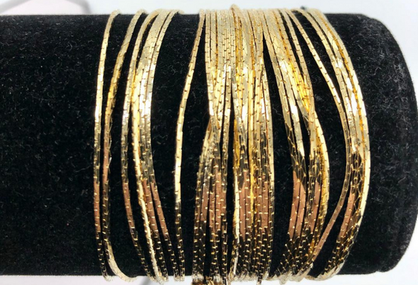 Cobra Bracelets 14 kt Gold Plated - 7 1/2 inch