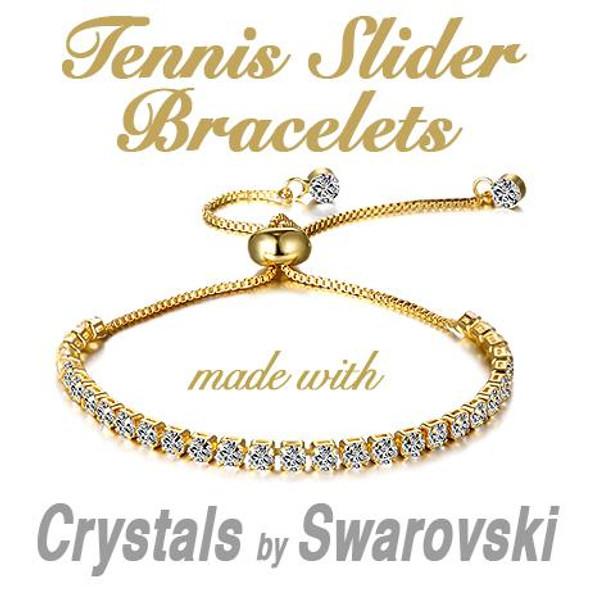 Tennis Slider  Bracelet made with Swarovski Elements - #1 BEST SELLER