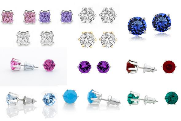 24 Pair Stud earrings our Best Sellers Swarovski Elements Jewelry