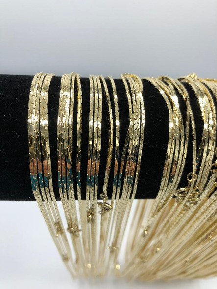 Cobra Chains 14 kt Gold Plated Made in USA- 24 inch