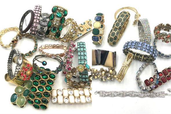 High End Boutique Bracelets  Mix & Variety of Crystal stones