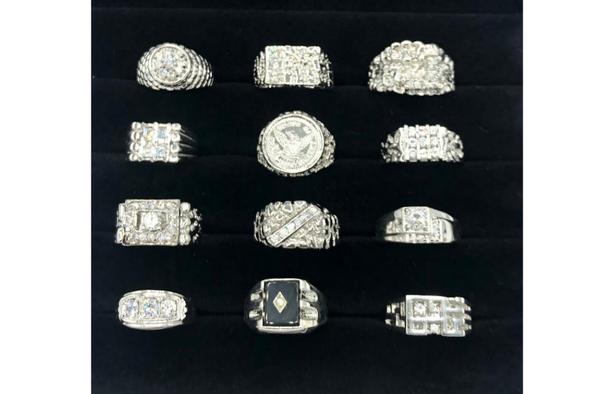 12 Assorted Sterling Silver .925 -Men's Rings