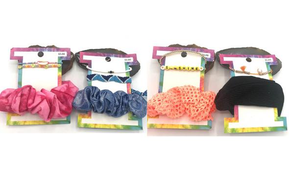 100 pcs Scrunchie and Bracelet set - Hair Accessories