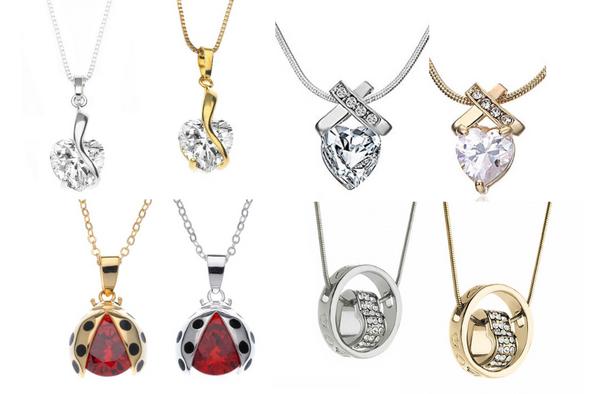 16 Necklaces best sellers Swarovski Elements Jewelry