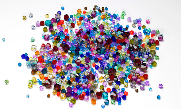 100 pieces Swarovski® Crystal Bead mix Assorted Colors
