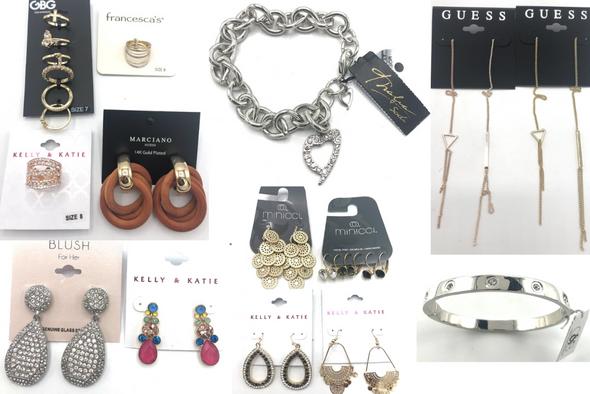 100 PIECE Jewelry Lot - Guess, Lane Bryant, Francesca's, Minicci, GBG, INC, Kelly + Katie,