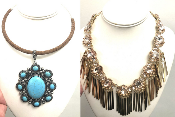 24 Boho Necklaces High End Boutique - Assorted
