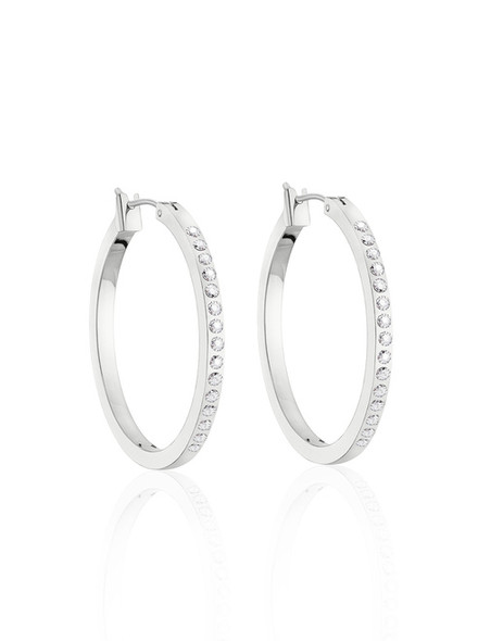 Outside Hoop  Earrings made with Swarovski elements