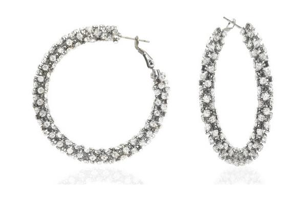 Cluster Hoop  Earrings made with Swarovski elements