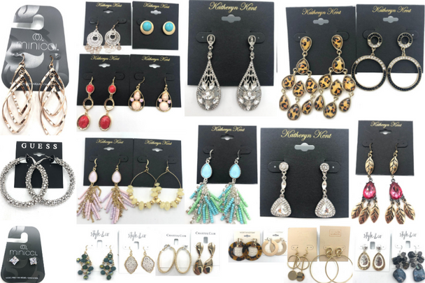 200 Pair All Designer Name Brand Earrings-Amazing Lot- Quality