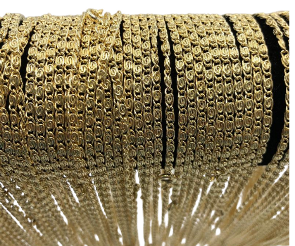 Scroll Chains 14 kt Gold Plated Made in USA- 18 inch