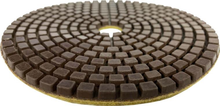 Worx+ Aqua Edge for concrete honing and polishing on an angle grinder.