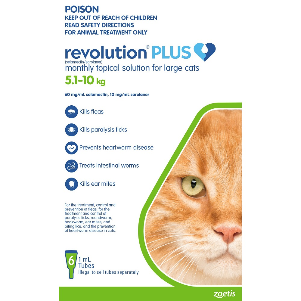 Revolution Plus Green Large Cats 5 1 10kg