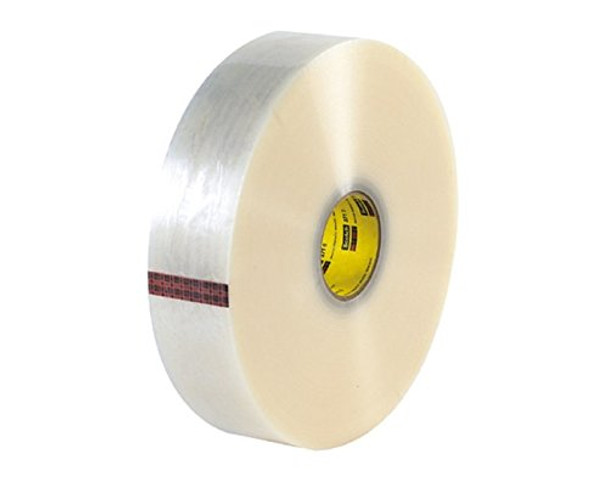 3M 371 Synthetic Hot Melt Rubber Clear Carton Sealing Tape 48mm x 1500m 6 Rolls/Case