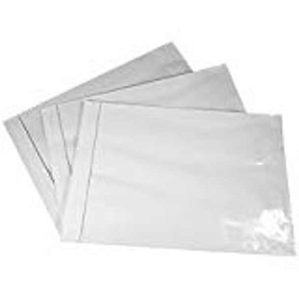 "Clear Packing  List Self Seal Pouch Sleeve 9.5"" x 12"" 500/CS"