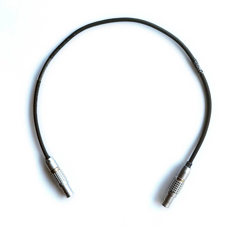 "Teradek > 2-Pin Lemo 12 Volt Cable 14"" length shown"