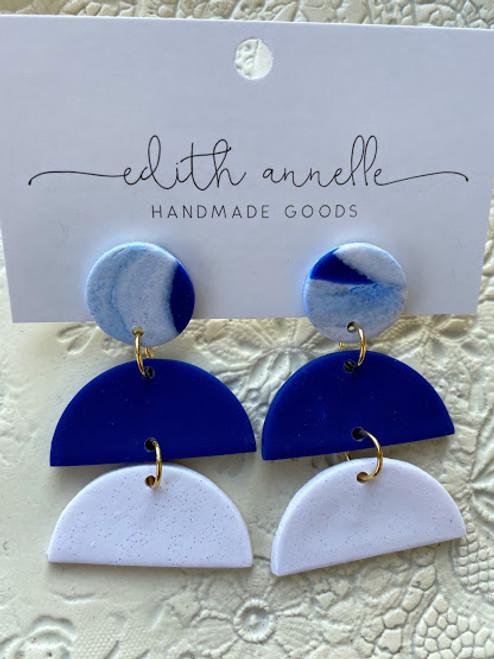 Kaylan in Blue/White Marble