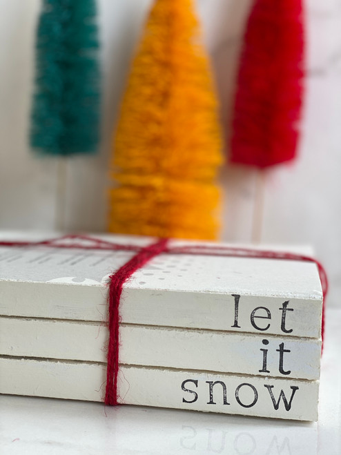Let It Snow Book Stack