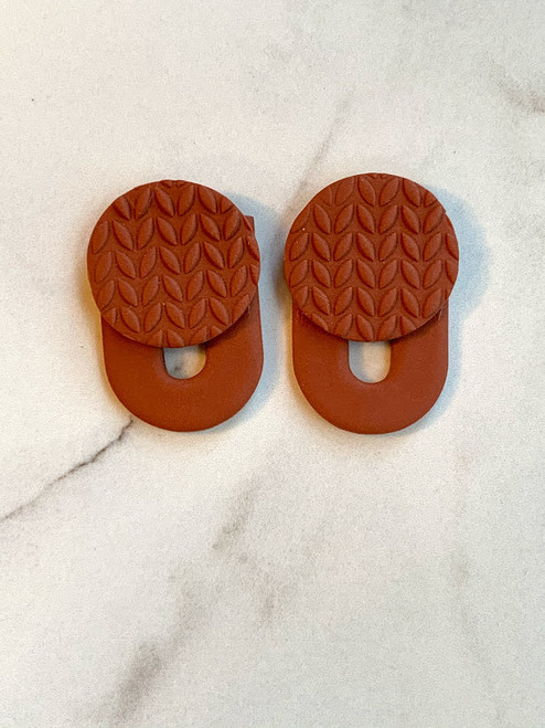 Terracotta Statement Stud