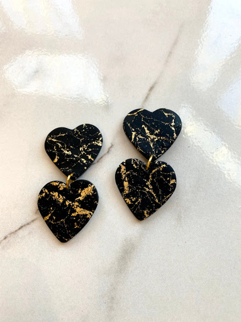 Black & Gold Hearts
