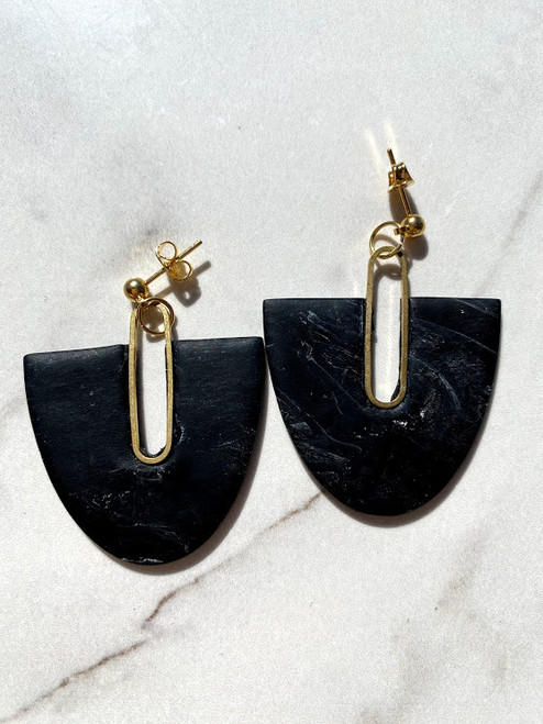 Black Marbled Drop